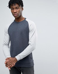 Only And Sons Sweatshirt With Raglan Sleeves Navy