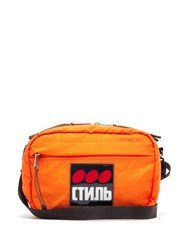 Heron Preston Стиль Applique Canvas Cross Body Bag Orange