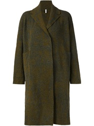 Boboutic Hooded Oversized Coat Green