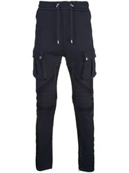 Balmain Drawstring Track Pants Blue