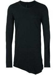 Masnada Asymmetrical Sweatshirt Black