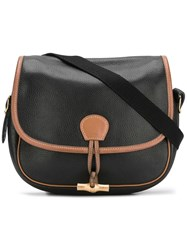 Hermes Vintage Duffle Shoulder Bag Black