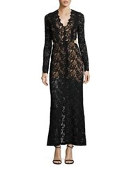 Nightcap Clothing Wisteria Cutout Lace Gown Black