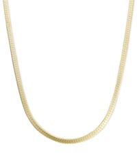 Macy's 14K Gold Necklace 20' Flat Herringbone Chain