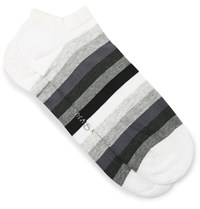 Corgi Striped Cotton Blend Socks Gray