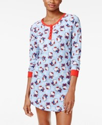 Hello Kitty Dream On Henley Printed Sleepshirt