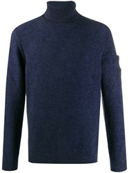 C.P. Company Cp Roll Neck Knitted Jumper Blue