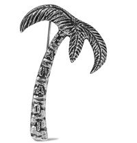 Saint Laurent Palm Tree Badge Silver