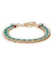 Design Lab Lord And Taylor Textured Chain Bracelet Gold