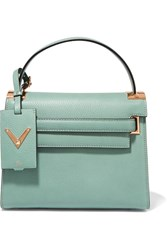 Valentino My Rockstud Small Textured Leather Tote Mint