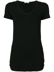 Le Tricot Perugia Classic Fitted T Shirt Black