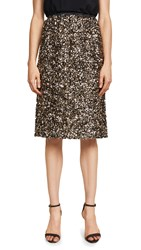 Loyd Ford Sequin Pencil Skirt Gold