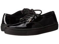 The Kooples Sneakers In Coated Leather Black Women's Lace Up Casual Shoes