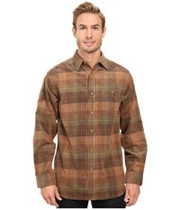 Scully Brenden Soft And Light Yarn Dye Corduroy Shirt Brown Green Men's Long Sleeve Button Up Multi