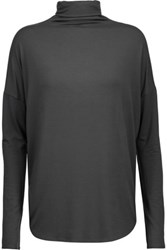 Vince Stretch Micro Modal Turtleneck Top Charcoal