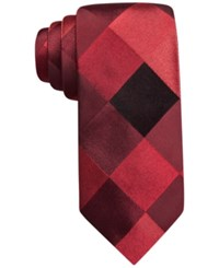 Alfani Spectrum Marion Large Gingham Slim Tie Only At Macy's Red