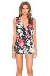 Minkpink Nothing Like The Wild Romper Navy
