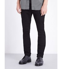 Nudie Jeans Grim Tim Regular Fit Straight Leg Dry Cold Black