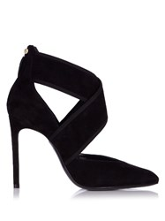 Lanvin Crossover Velvet Pumps Black