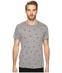 Alternative Apparel Eco Crew T Shirt Eco Grey Tree Dot Men's T Shirt Gray