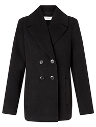 John Lewis Sophie Double Breasted Pea Coat Black