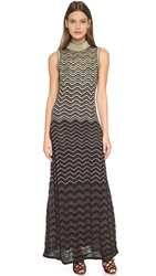 M Missoni Ripple Stitch Sleeveless Maxi Dress Black