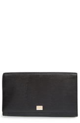 Dolcegabbana 'Oversized Day' Lizard Embossed Clutch Nero