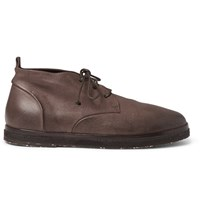 Marsell Full Grain Leather Desert Boots Brown