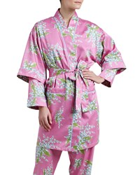 Bedhead Lily Of The Valley Sateen Kimono Robe Pink