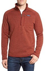 Patagonia Men's 'Better Sweater' Quarter Zip Pullover Cinder Red