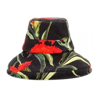 Dolce And Gabbana Floral Printed Brocade Hat