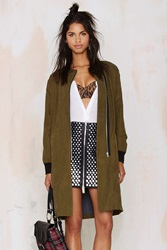 Nasty Gal Joa Game On Zip Coat