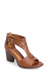 Sofft 'Parminda' Perforated Leather Sandal Women Cymbal Tan