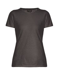 Isabel Marant Madras Linen T Shirt Grey