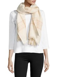 Lord And Taylor Dual Tone Fraas Linen Blend Scarf Soft Camel