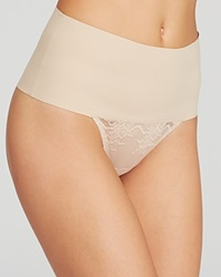 Spanx Thong Undie Tectable Lace Sp0615 Soft Nude