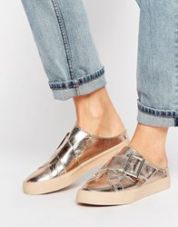 Asos Diane Mule Loafer Trainers Rose Gold