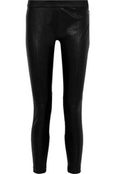 Muubaa Woman Stretch Leather Skinny Pants Black