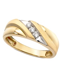 Macy's Men's Diamond Ring In 14K Gold 1 6 Ct. T.W.