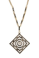 Natasha Accessories Vintage Synthetic Pearl And Crystal Pendant Necklace Metallic