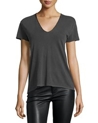 Zadig And Voltaire Story Fishnet Mesh Skull Tee Charcoal Grey