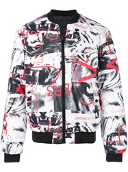 Versace Jeans Printed Bomber Jacket Polyester