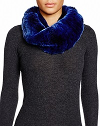 Surell Rabbit Fur Infinity Twist Scarf Blackberry