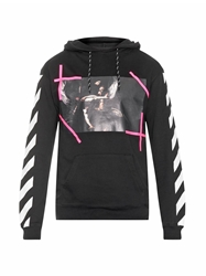 Off White New Caravaggio Print Hooded Sweatshirt