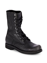 Diesel Ruggst Leather Boots Black