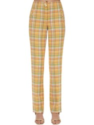 Rejina Pyo Norma Cotton Blend Straight Pants Yellow