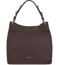 Karen Millen Leather Hobo Bag Purple