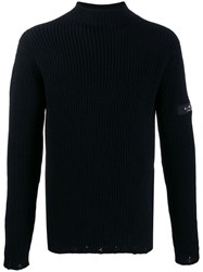 John Richmond Knitted Roll Neck Jumper Black