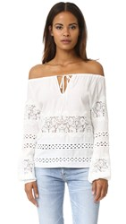 For Love And Lemons Hayley Long Sleeve Blouse Ivory