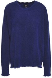 Line Woman Distressed Knitted Sweater Indigo
